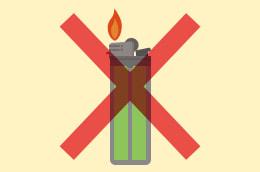 火気は絶対に使用しないでください。